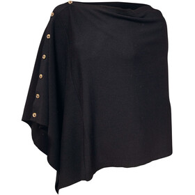 Ivanhoe of Sweden GOTS Chestnut Poncho Femme, black
